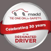 MADD designated driver red ribbon